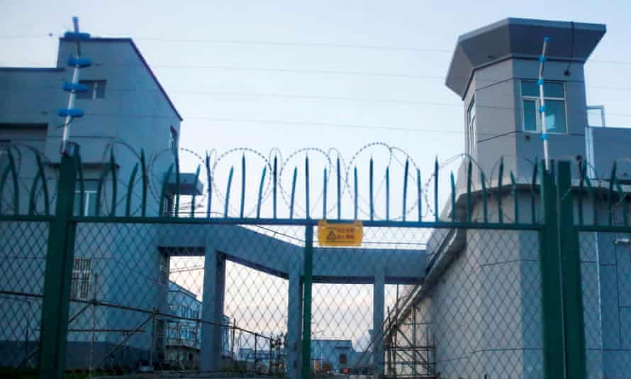 A perimeter fence is constructed around what is officially known as a vocational skills education centre in Dabancheng in Xinjiang Uighur Autonomous Region, China.