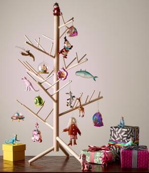 Wood tree with decorations