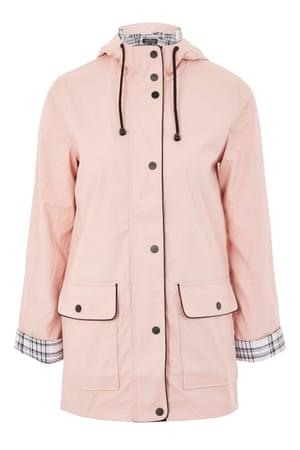 Hooded rain mac, £49, Topshop