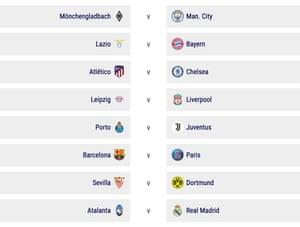 Uefa draw in full.