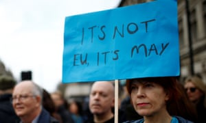 A message from a marcher: It's not EU it's May