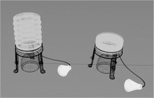 Lumir tea candle powered LED lamp