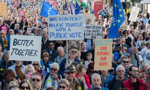 The People's Vote march in London on 20 October.