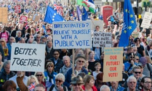 An anti-Brexit People's Vote march in London, October 2018.