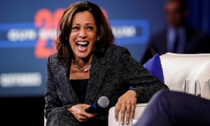 Kamala Harris said Biden had 'more patriotism in his pinky finger' than Trump.