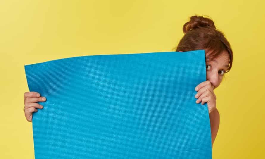 Zoe Williams with yoga mat