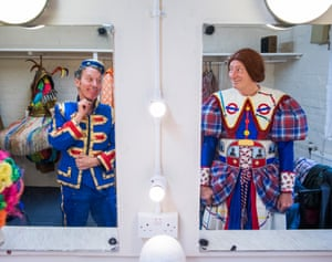 Berwick Kaler and Martin Barrass backstage at Theatre Royal York in 2017.