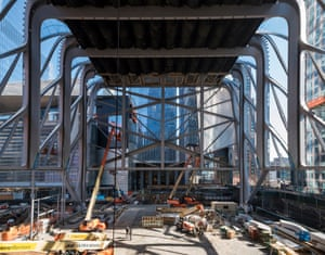 Construction of The McCourt, the Shed's multi-use hall accommodating large-scale performances and installations.