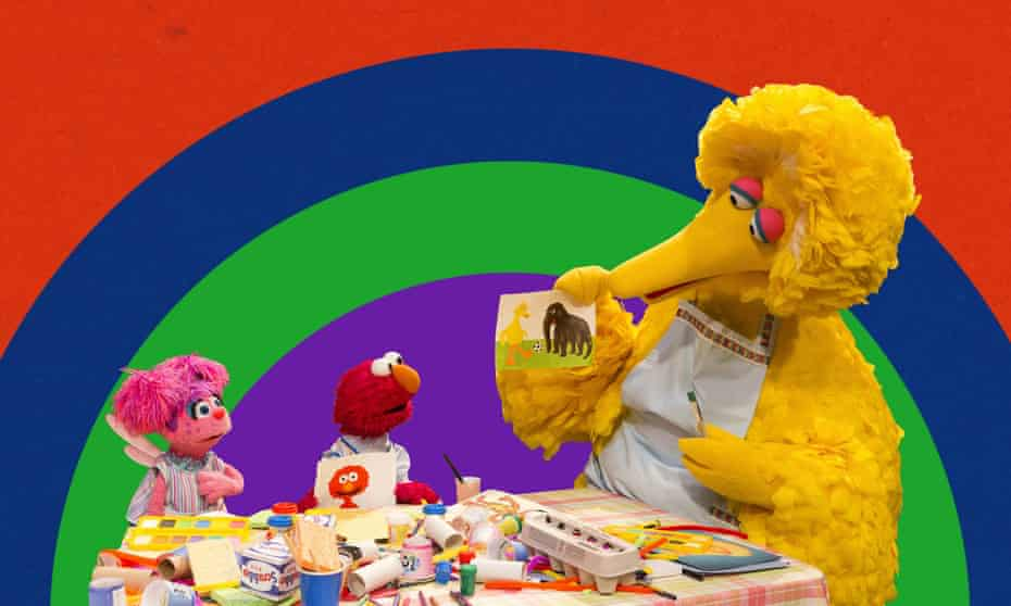big bird stays at home with other characters