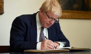 Love's labour's lost … Boris Johnson.