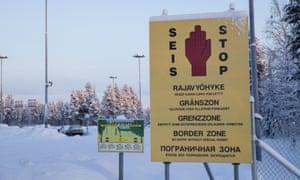 The Finnish-Russian border in Salla, northern Finland.