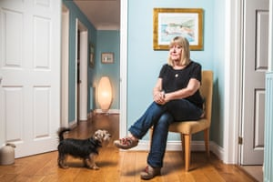 Writer Lynne Truss photographed at home near Brighton