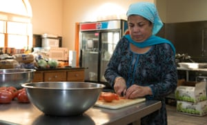 Gurpal Kaur works in the pantry where 16 people took refuge in 2012. Kaur said that she does not wear a Salwar Kameez – a traditional dress - in public places, and has memorized all the exits to the temple.