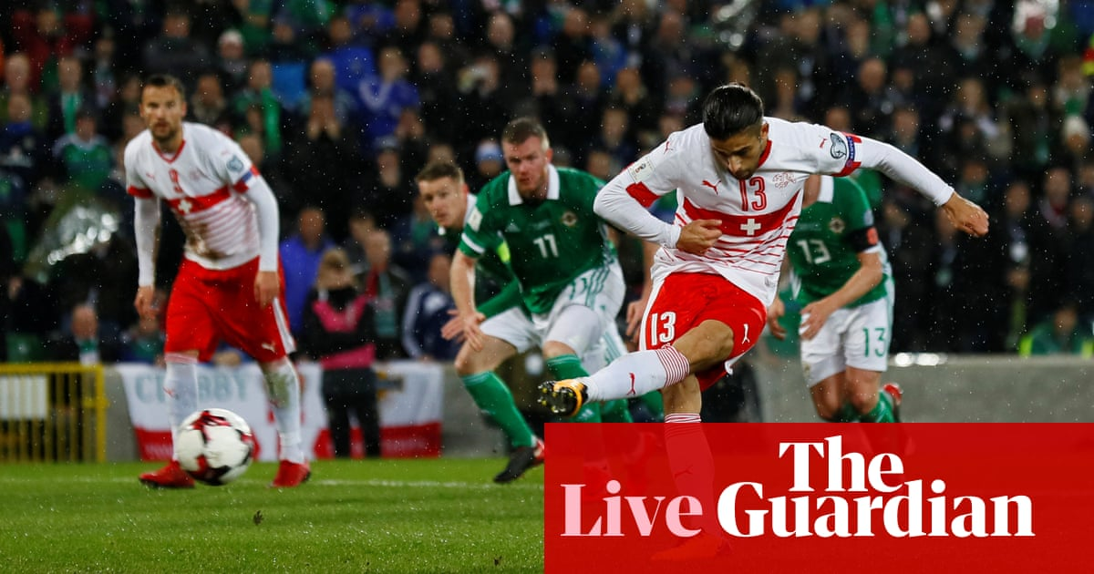 50e0c2ba2e8 Northern Ireland 0-1 Switzerland  World Cup play-off first leg – as ...
