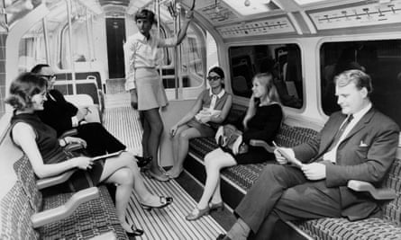 A mock-up of the type of carriage to be used on the Victoria Line, 20th August 1968.