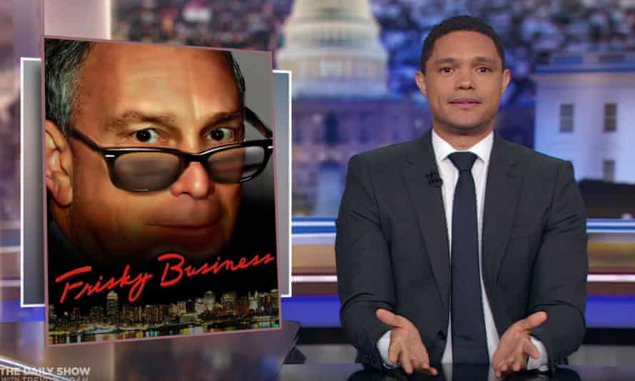"Trevor Noah on Bloomberg's comments about stop-and-frisk: ""You don't have to be a genius to figure this out: as much as Bloomberg is trying to reposition himself now that he needs the support of black voters, he encouraged his police department to treat black people like they were all criminals."""