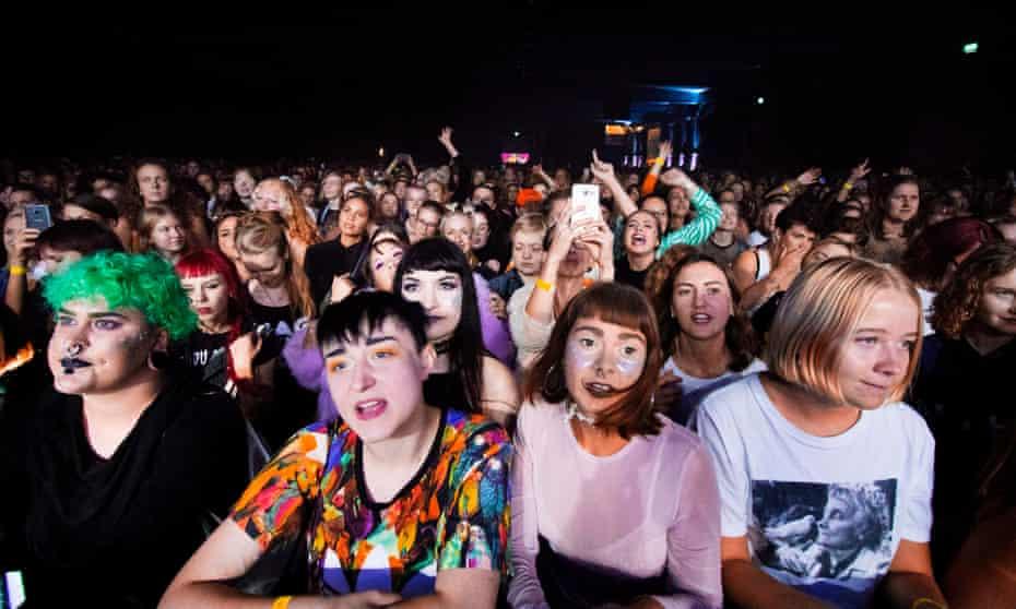 Attendees at Statement festival in Gothenburg, Sweden, 31 August 2018.