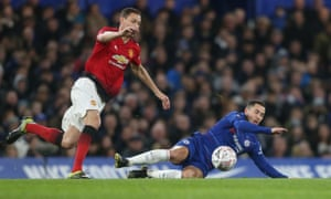 Eden Hazard was unable to assert himself against an excellent Manchester United midfield on Monday night.