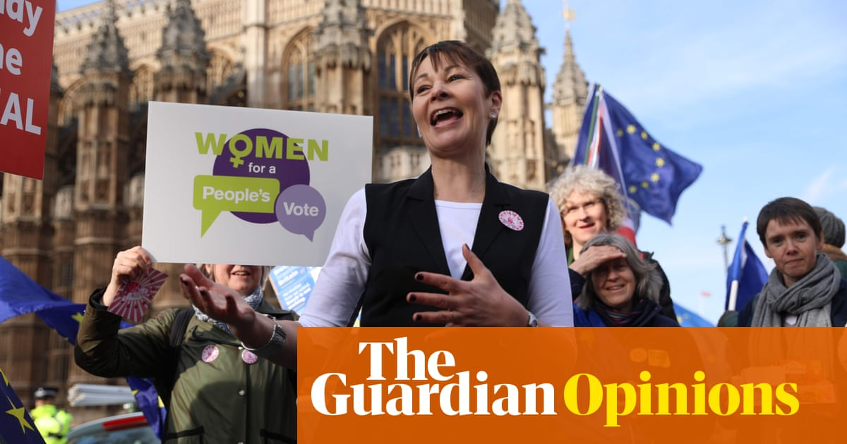 I'm calling for a cabinet of women to stop a disastrous no-deal