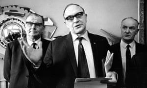 General secretary of the TGWU Jack Jones, Hugh Scanlon of the Amalgamated Engineering Union and Alf Roberts representing Vehicle Builders in 1970.