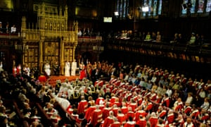 The Queen at the state opening of parliament in the House of Lords in 2016. Photograph: Alastair Grant/Reuters