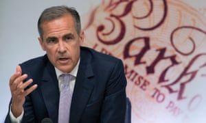 Bank Of England governor Mark Carney talking about the Quarterly Inflation Report in August.