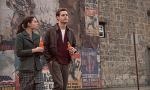 Alexa Davalos and Luke Kleintank in The Man In The High Castle