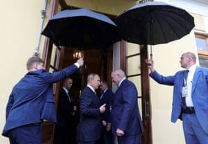 Saint Petersburg, Russia President Putin meets his Belarusian counterpart Lukashenko in Saint Petersburg