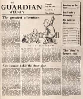 Guardian Weekly, 24 July 1969, moon landing