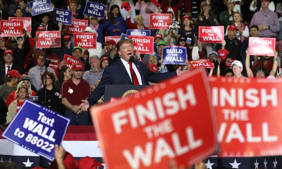 A Donald Trump rally in El Paso, Texas, in February 2019.