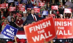 A Donald Trump rally in El Paso, Texas, in February 2019