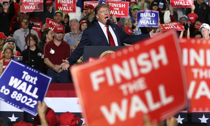 Donald Trump addresses supporters at a rally in El Paso last month.