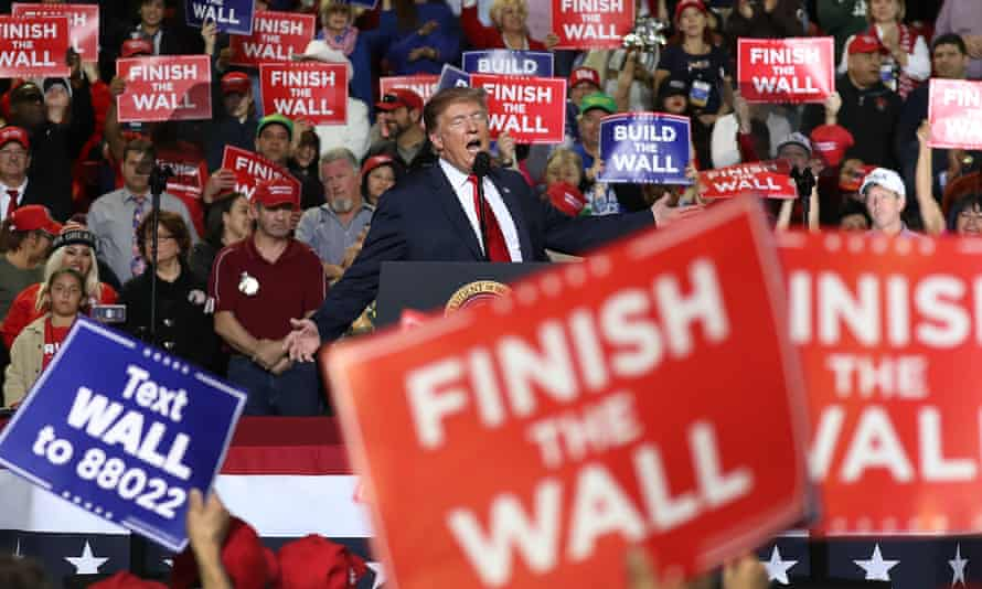 Donald Trump at a rally in February 2019 in El Paso, Texas.