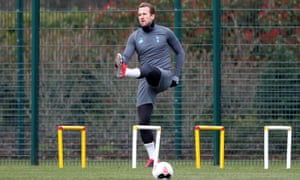 Harry Kane at Tottenham's training ground on 9 March