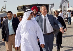 Blair with the United Arab Emirates' government minister Sheikh Nahyan bin Mubarak Al Nahyan.