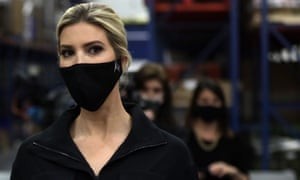 Ivanka Trump tours the distribution center of Coastal Sunbelt Produce in Laurel, Maryland this month.