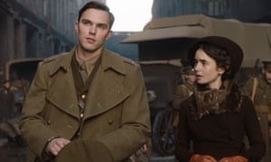 Nicholas Hoult as JRR Tolkien and Lily Collins as his wife Edith in the 2019 film Tolkien.
