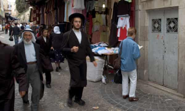 A street scene in Jerusalem's old city.