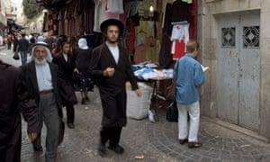 A street scene in Jerusalem's old city.
