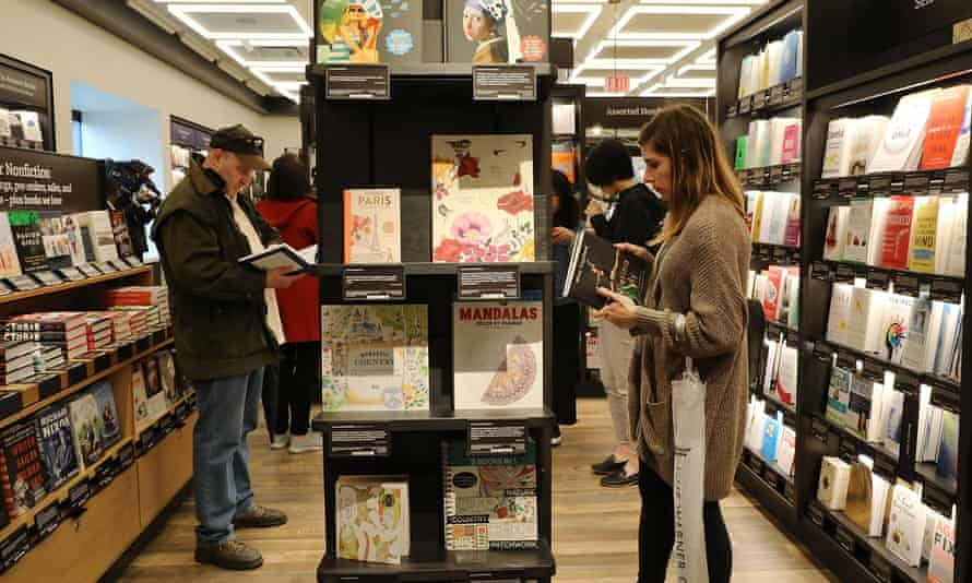 'I think it's so ironic that so many wonderful bookstores were put out of business because of them, and now they're opening up a bookstore,' said one customer.