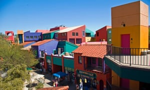 Colourful buildings in Downtown Tucson