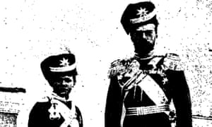 Tsar Nicholas II with his son Alexei, published in the Manchester Guardian 16 March 1917