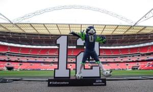 Seattle Seahawks' mascot at Wembley