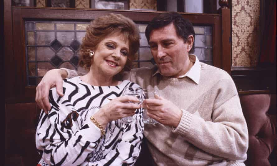 Mark Eden as Alan Bradley with Barbara Knox as Rita Fairclough in a 1989 episode of Coronation Street. Millions of viewers tuned in to see the character make his exit from the soap later that year.