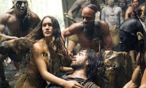 Q'Orianka Kilcher and Colin Farrell in The New World.