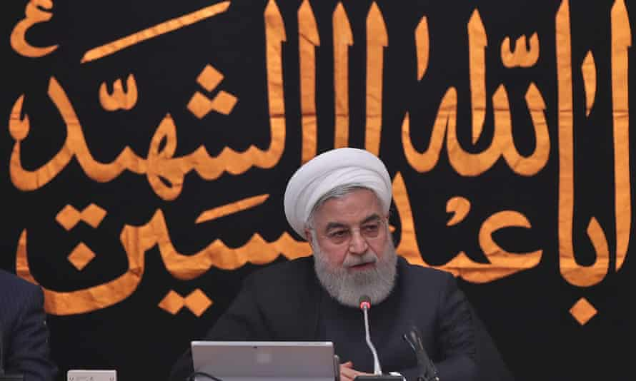 President Hassan Rouhani chairing a cabinet meeting in Tehran.