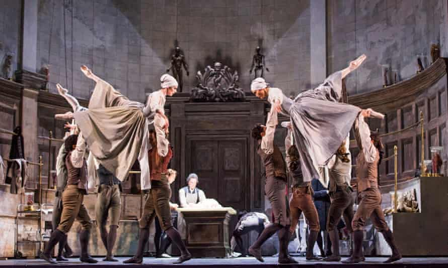 A scene from Frankenstein at the Royal Opera House.