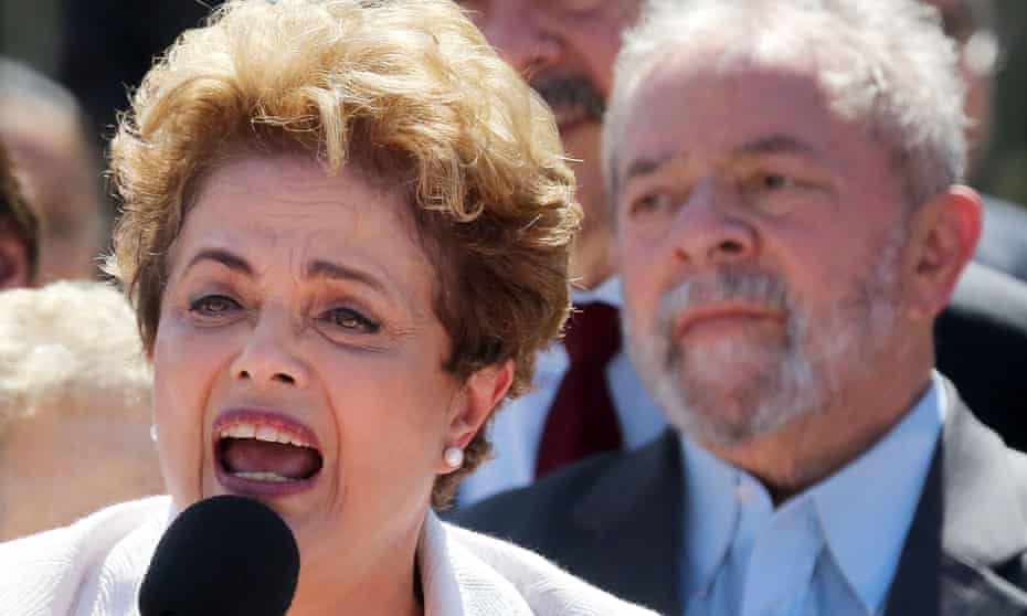 Former Brazilian presidents Dilma Rousseff and Luiz Inácio Lula da Silva.