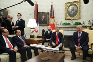Biz as usual - at least on the surface.Trump meets with Paraguay president Mario Abdo Benitez in the Oval Office at the White House this morning. Zelenskiy, eat your heart out.