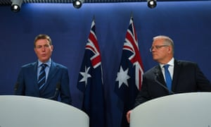 The attorney general, Christian Porter, and the prime minister, Scott Morrison, release a second version of the proposed religious freedom laws amid the bushfire crisis
